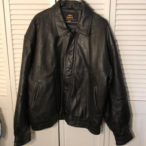 Men's large new zlander leather jacket